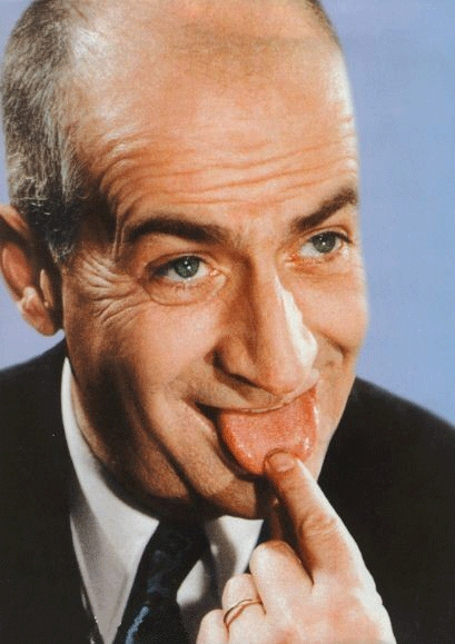 louis de funes tire la langue